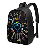 Laptop Backpack,17 Inch Travel Lightweight Backpack with USB Charging...