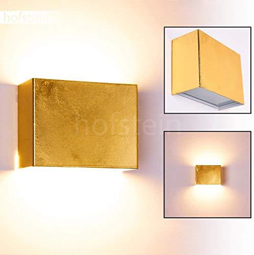 Preisvergleich Produktbild Wandleuchte Dorata,  Wandlampe aus Metall / Glas in Gold,  Wandspot 1-flammig,  1 x G9 max. 28 Watt,  Wandstrahler mit Lichteffekt,  LED geeignet