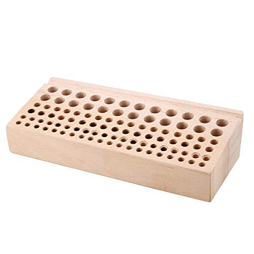 98 Löcher Lederhandwerk Werkzeughalter Lackierwerkzeug für Lederhandwerk Deluxe Holzständer Stanzwerkzeugständer aus Holz Aufbewahrungsbox Organizer