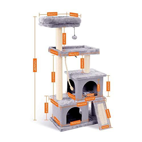 YSJSPKK Árbol para Gatos Gatos árbol casa Gato Saltar Juguete diversión rasguño Postes sólidos Gatos Subida Marco Suministros para Mascotas Products (Color : AMT0030Gray, Size : M)