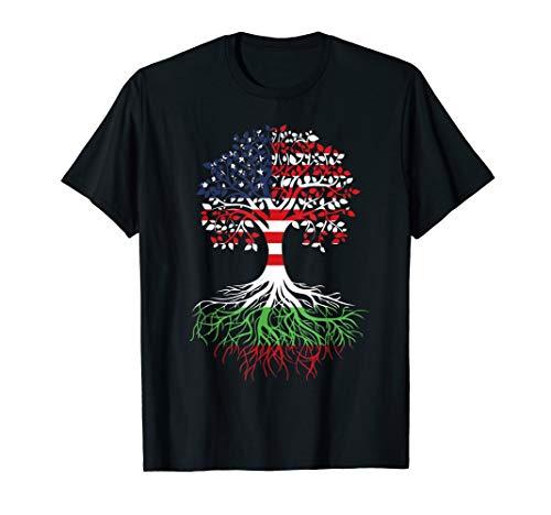 Bulgarian Roots American Grown Tree Bulgaria Flag Art Gift T-Shirt