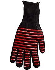 1 st BBQ Handschoen Warmte Geïsoleerde Magnetron Handschoen Barbecue Koken Grill Ontstekingsremmende Handschoen (Rode Strip)