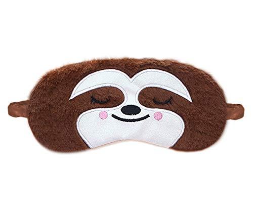 dressfan Nette Tier Einhorn schlafmaske Cartoon Augenklappe Atmungsaktiv Flauschige Augenmaske Für Schlaf Reisen Kinder Erwachsene Dame Mehrere Stile (E-Braun, Einheitsgröße)
