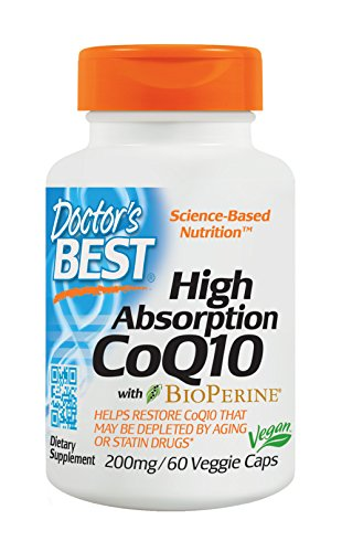 Dr's Best High Absorption Coq10 with Bioperine, 200Mg, 60 Vegetarian Capsules, 200 g