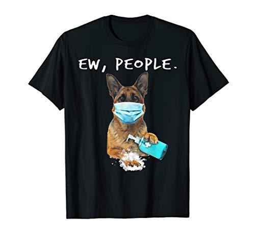 German Shepherd Ew People Dog Wearing A Face Mask T-Shirt