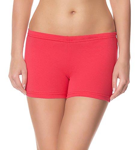 Ladeheid Damen Shorts Radlerhose Unterhose Hotpants Kurze Hose Boxershorts LAMA05, Rosa21, M-L (Herstellergröße: 38-40)