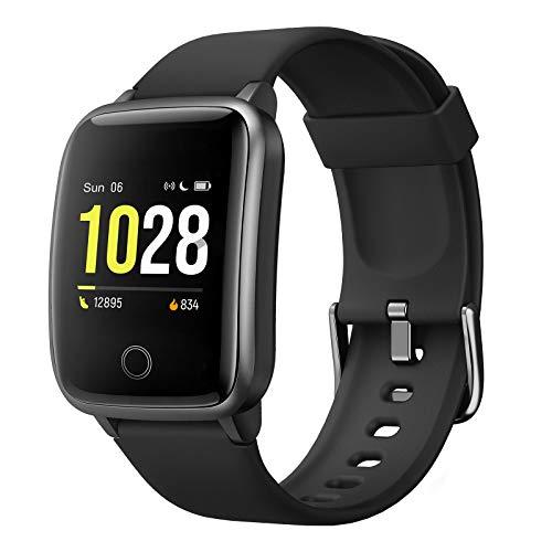 Fitpolo Reloj Inteligente Mujer, Smartwatch Hombre Impermeable IP68 con Pulsómetro, Calorías, Monitor de Sueño, Podómetro Ruta GPS Pulsera Actividad Inteligente Reloj Deportivo para Android iOS