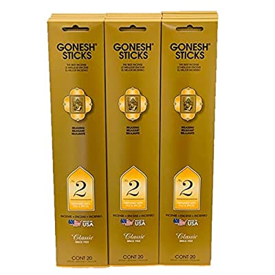 Gonesh Incense Sticks Extra Rich Collection Value 12 Pack