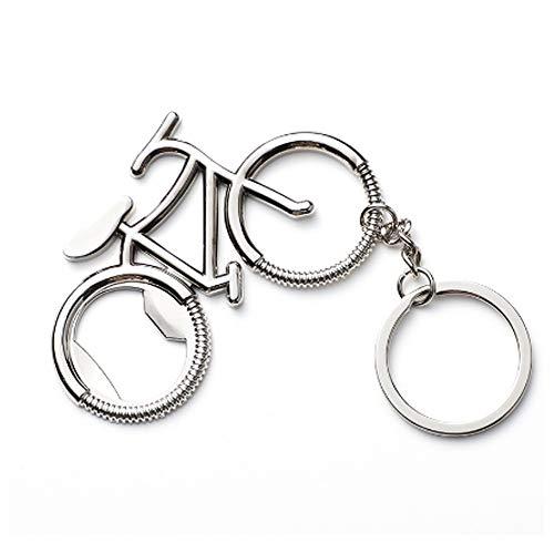IKAAR Décapsuleur porte-clés en forme de vélo en métal pour amateur de vélo, cadeau d'anniversaire de mariage, fête