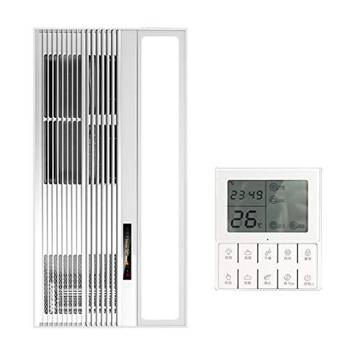 Bathroom Heater Xinjin Calentador de Aire de Techo Integrado Iluminación LED Baño Multifuncional 4 en 1 Calefacción/Refrigeración/Extractor/Calentador de iluminación con Control inalámbrico