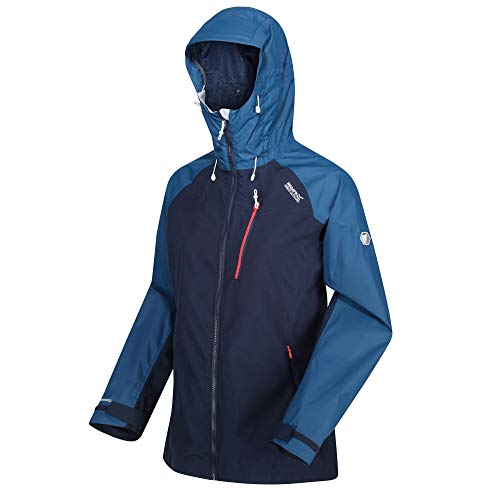 Regatta Damen Highton STR JKT Waterproof Breathable Isotex 10000 Strech Panels Taped Seams Coat Jacke, Marineblau/Blauopal, 46