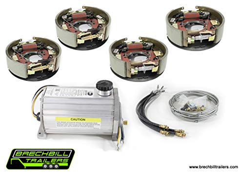 Electric/Hydraulic Drum Brake Conversion Kit for Dexter & Lippert 10K General Duty Axles 12-1/4