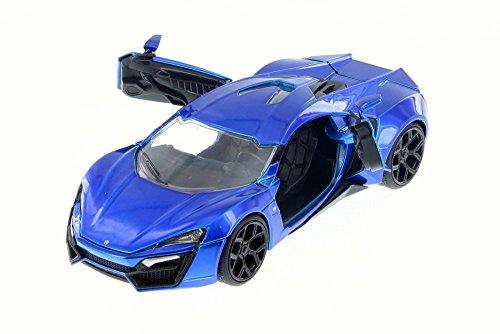 Jada Lykan HyperSport, Blue 98028 - 1/24 Scale Diecast Model Toy Car