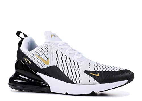 Nike Men's Air Max 270 White/Black/Gold AV7892-100 (Size: 12)