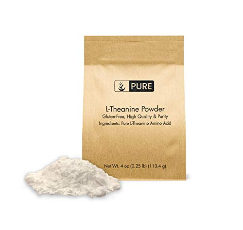 Pure L-Theanine Powder (4oz) Gluten-Free, Sustainably Sourced, 100%...