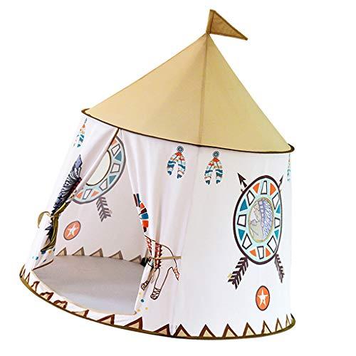 D DOLITY Tente Enfant Intérieur - Château de Princesse pour Fille Garçon Maison de Jouet Tente Pop Up