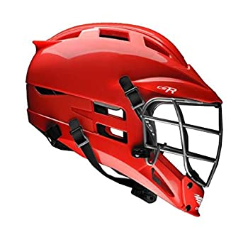 Cascade CS-R Youth Lacrosse Helmet  Choose Your Shell Color  Recommended for Ages 12 & Under  Red