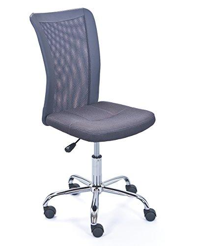 Inter Link Bureaustoel voor kinderen modern 40 x 48 x 98 cm grijs