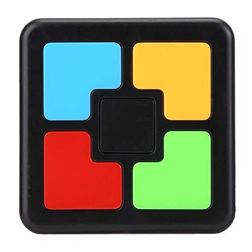 Tnfeeon Memory Training Game, Kids Electronic Memory Game Plastic Interaction Intelligent Music Light Educational Brain Teaser Memory Game for Boys Girls(Single Hand)