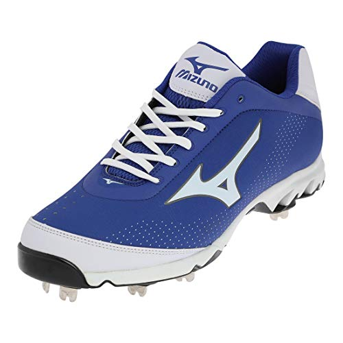 Mizuno 9 Spike Vapor Elite 7 PX Men's Baseball Spikes Cleats Royal Blue White, 13