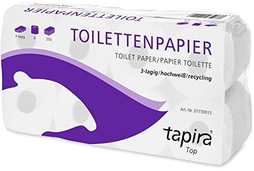 TAPIRA Top Toilettenpapier 3lagig weiß 72 Rollen