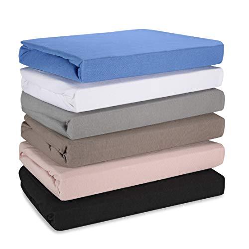 Hometex Premium Textiles Boxspringbett-Spannbettlaken Altrosa 140/160 x 200/220 cm Spannbetttuch in Hotelqualität 145 g/m2 ÖKO-TEX Standard - 100{4205a1c54de8cd498b4fd32b01b25f4cc0f2590dc133329f2eb8a3066d9b4edc} Baumwolle