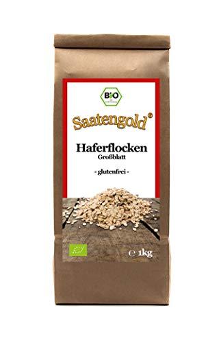 Saatengold   Naturstoffe / Natürlich / Rein   Vegan & glutenfrei (Bio-Haferflocken glutenfrei Großblatt 1 kg)