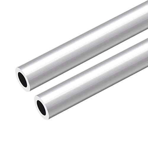 sourcing map 6063 Aluminio Redondo Tubo 300mm Longitud 16mm OD 5-15mm Diámetro Interior Sin Costura Aluminio Recto Tubería ID de 10 mm x 16 mm de diámetro exterior, 2 piezas