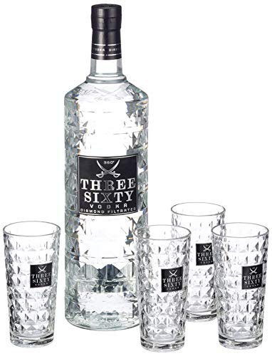 Three Sixty Vodka Longdrinkgläsern 37.5% vol (1 x 3 l)