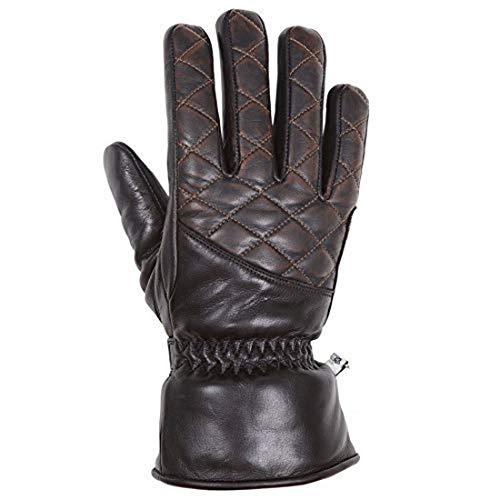 Helstons Caprice Handschuhe, Leder, Schwarz/Braun