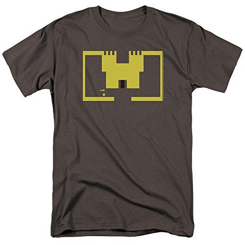 Atari Adventure Castle Screen Art Unisex Adult T Shirt, Charcoal