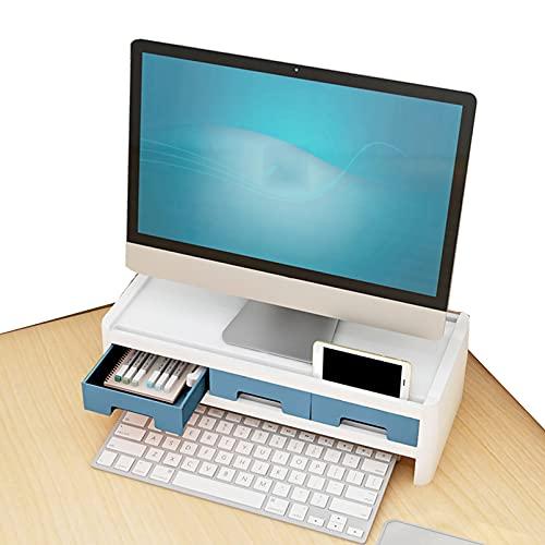 Soporte Elevador Monitor, Monitor de Guardia de Cuello Monitor de Computadora Monitor de Escritorio Monitor de La Computadora, Base desktop Keyboard office Supplies B(Size:Marco elevado de doble capa)