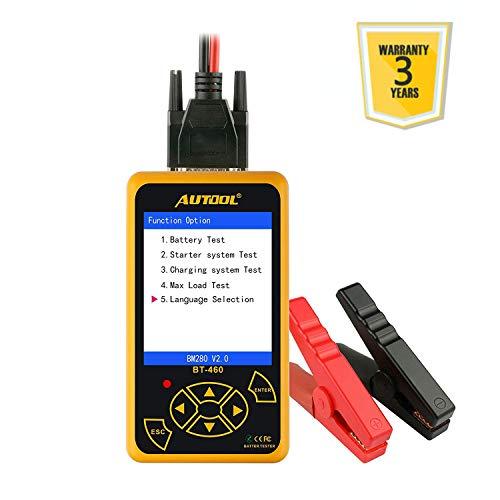 AUTOOL BT-460 12 V/24 V 100-2400 CCA Auto Batterie Last-Tester für alle Autos Kurbel- und Lade-System-Diagnosegerät mit großem bunten Display
