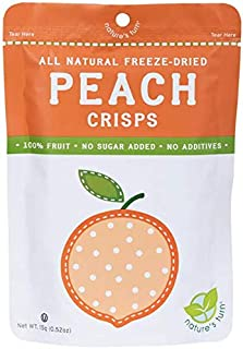 Nature's Turn All Natural Freeze Dried Peach Crisps (Pack of 6)