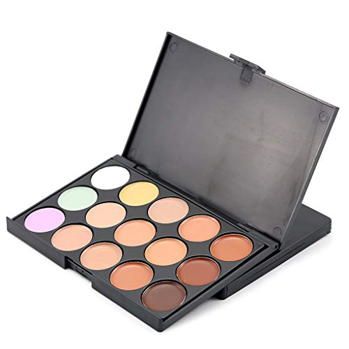 Concealer Palettes, Fulltime® 15 Couleurs maquillage Naturel Professionnel Fondation Visage Crème Pour Le Visage Cosmétique Contour Palette (A)