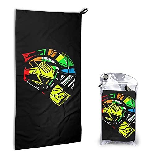 Large Puzzle Valentino Rossi Toalla de playa de microfibra de secado rápido, toalla súper absorbente, toalla libre de arena, para niños, adolescentes, adultos, viajes