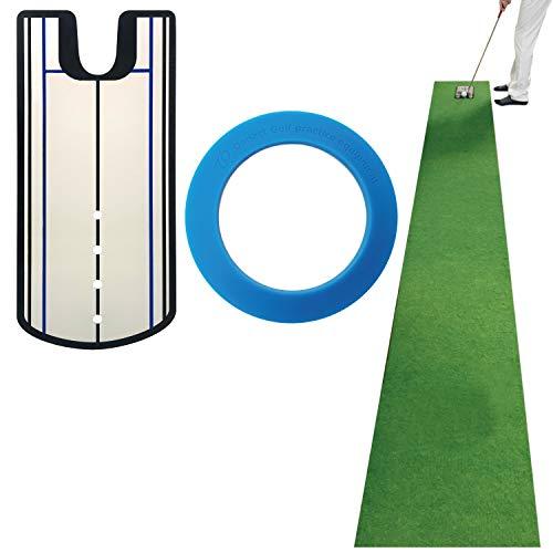 Danact 距離感練習 パターマット セット パター練習用マット ロング 45cm×3m(ミラー型練習器具付き)