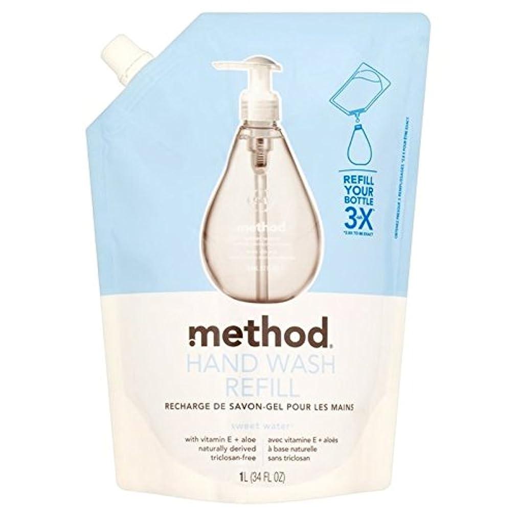 かんがい動くログMethod Sweet Water Refil Handwash 1L - メソッドの甘い水のリファイルの手洗いの1リットル [並行輸入品]