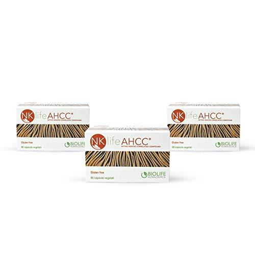 NKlife AHCC® Pacchetto 3 Confezioni da 60 Capsule da 500 mg