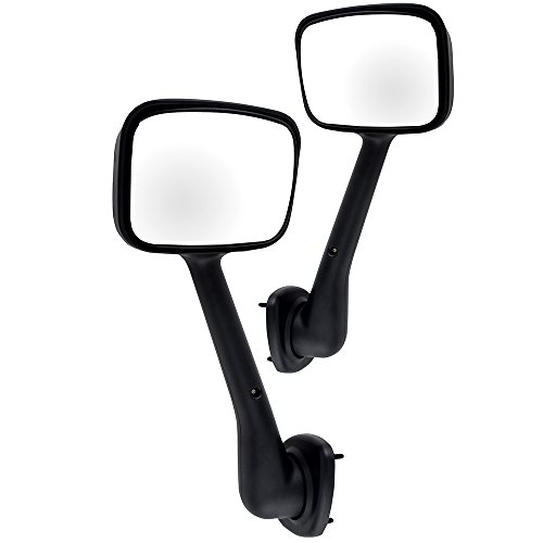 Towing Mirrors,ECCPP High Performance Heavy Duty Mirrors Manual Left and Right Side Pair Hood Mount Mirrors for Freightliner Cascadia 2008-2016