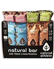 Energierepen Natural Athlete, zonder Toegevoegde Suikers, 100% Natuurlijk en Organisch, Glutenvrij, Veganistisch -12x40 g