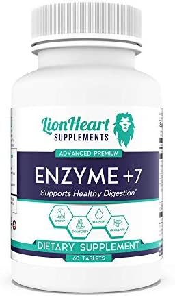 DIGESTIVE ENZYMES SUPPLEMENT Includes Purified Ox Bile Salts Tablets for No Gallbladder Sufferers product image