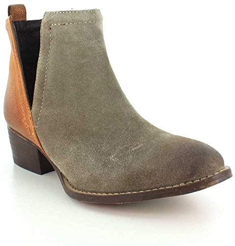 Diba True Women's Stop by Ankle Boot,Dust/Cognac Suede/Leather,US 10 M