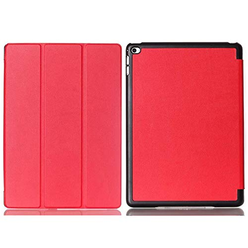 for Apple iPad Air 2 iPad6 9.7' Tablet Smart Cover, Ultra Slim Lightweight Folio Stand Auto Sleep/Wake Up Leather Case for Apple iPad 6 Air2 A1566 A1567 9.7 inch (2-Red)