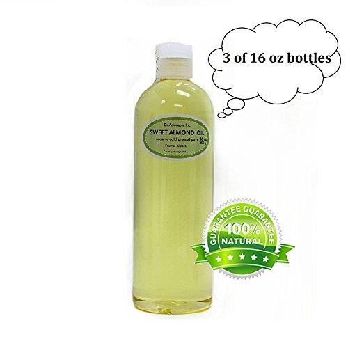 Sweet Almond Oil 100% Organic Skin Care 48 Oz/3 Pint