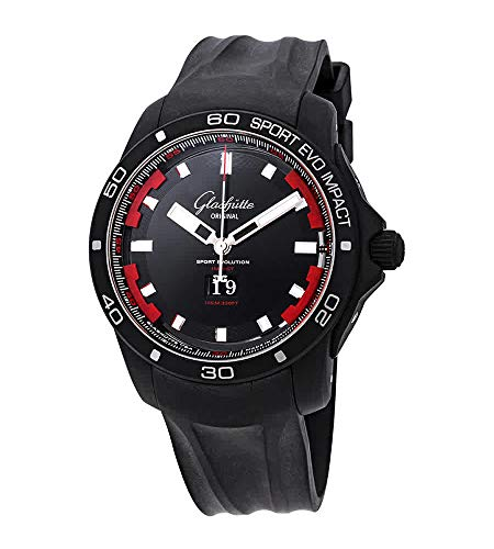Glashutte Original Sport Evolution Impact orologio automatico da uomo con quadrante nero 39-47-16-54