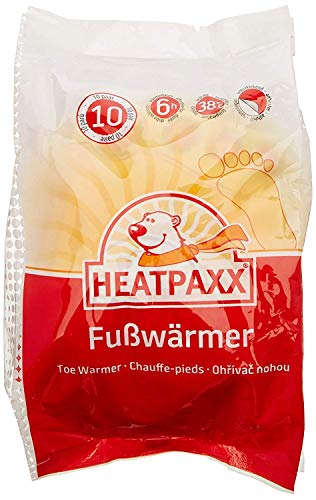 HeatPaxx Fußwärmer | 10 Paar | EXTRA WARM | Hauchdünne Zehenwärmer, Wärmepads | für unterwegs und daheim