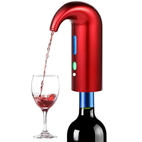 Vertedor De Vino Electrónico Aeroador De Vino Eléctrico Portátil Vulidor De Vino Instantáneo Decantador Dispensador Bomba De Dispensador ANE TOUCH AUTOMÁTICO USB Recargable Para Vino Rojo Y Blanco Ade