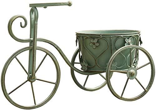 YIBANG-DZSW Estantería para Flores Maceta Verde Retro Bicicleta Vieja Maceta del balcón del jardín decoración de jardín, Patios