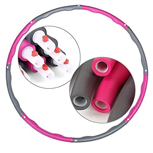 8 Teile Hula Hoop Fitness Reifen Erwachsene Bauchtrainer Gewicht Fitnesstraining 95cm Hoola Hoop,1kg Fitness Reifen Erwachsene Kinder Einfach zusammensteckbar Abnehmen Hula Hoops Hoola Hoops